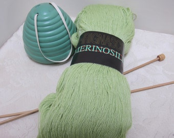 100g Merino Silk Laceweight in Lime Green