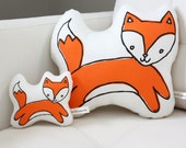 Fox Pillow - MINI - Plush - Plushie - Softie