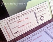 Travel Escort Seating Ticket / DIY Printable Interactive PDF / Airplane or Train Boarding Pass