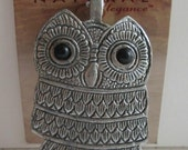 FAB Blue Moon Beads Super Large OWL Pendant
