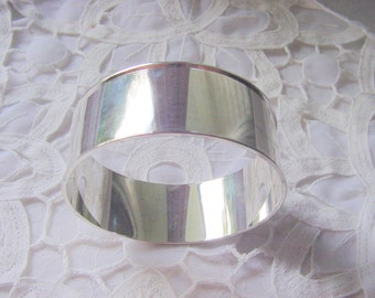 Bangle Channel Bracelet 1 Inch Sterling Silver Plated 177