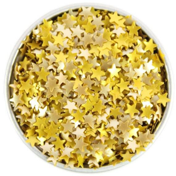 Gold star edible glitter metallic sprinkles