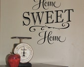 Home Sweet Home - Vinyl Wall Decal, Vinyl Lettering, Home Decor