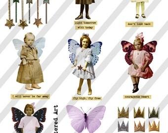 Digital Collage Sheet Children ATC  Images  (Sheet no. O71) Ephemera-Instant Download