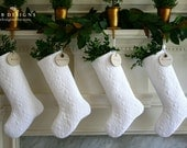 White Christmas Stocking, White Stocking, White Christmas, Quilted Christmas Stocking, Personalized Stocking