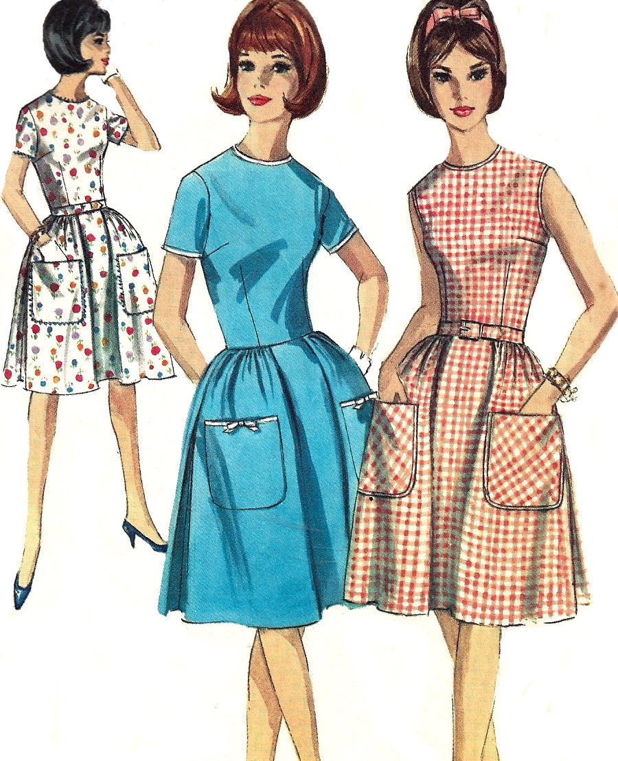 1960s dress pattern pleated skirt vintage simplicity sewing