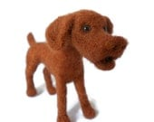 Custom Vizsla - needle felted plushie soft sculpture dog sculpture