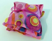 Bright Pink Circles Lavender or Rose Sachets