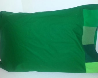 Miner Crafting Creeper Quilt Matching Pillow Case Green Blocks 8 Bit Boy Girl Computer Game Pillow Slip Washable Gift