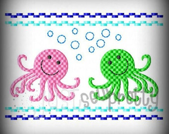 Octopus 5x7  Machine Smocked Embroidery Design