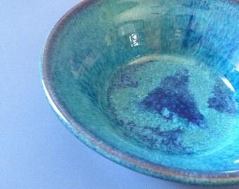 Turquoise small stoneware bowl