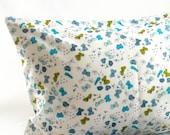 Schmetterlinge-Kleinkind Kissenbezug - Bio-Baumwolle - blau und grün Schmetterlinge - Mädchen - Kostenloser Versand