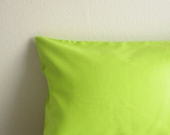 Toddler/Travel Pillowcase - Organic Cotton, Eco Friendly - Lime Green - Back to School, Naptime