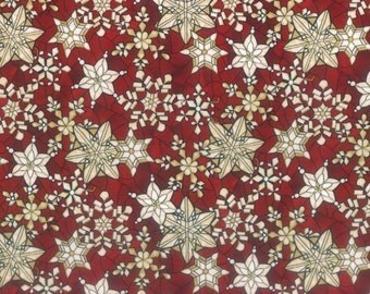 Clearance Sale - Scarlet Stained Glass Gold Snowflakes - L7332-78G