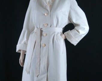 Vintage 70s All Weather Coat Size M b42
