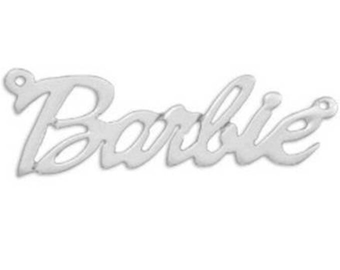 Personalized Barbie Name Necklace - Sterling Silver - choose from 5 styles