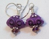 Purple Volkswagen Beetle Earrings