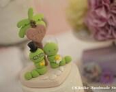 handmade worm Wedding Cake Topper---k779