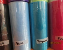 Organza   New Price 3 Rolls  25 Yards Each Roll You Choose the Colors  Please Read Description