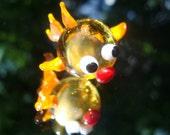 Handmade Hollow Glass Focal Fish Bead