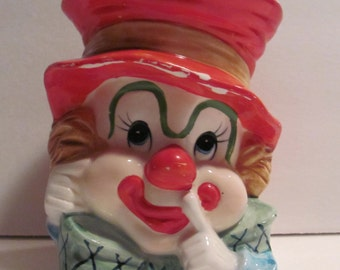 Vintage Napcoware Clown Planter Vase