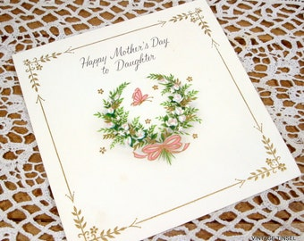 Vintage Mother's Day Card To Daughter, Greeting, 1960's, Hallmark  (113-14)