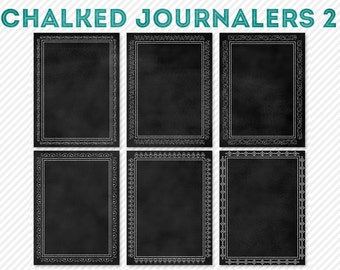 chalked chalkboard my life 365 project journaling cards 2 - digital scrapbooking - automatic download
