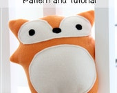 SALE* Plush toy sewing PATTERN and TUTORIAL, fleece Woodland Fox, easy stuffed fox instructions