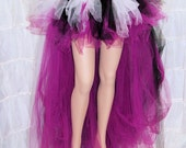 Fuchsia Hot Pink Layered Trashy Formal Bustle TuTu Adult Medium MTCoffinz - Ready to Ship