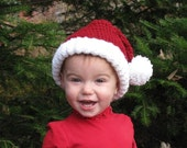 """Santa Hat (baby/toddler) 16"""" stretches to 18"""" OR 17"""" stretches to 19"""""""