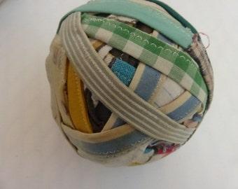 Vintage  Rag Ball with Sewn Edge RB107