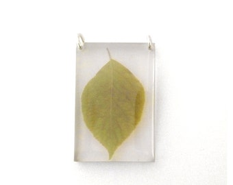 Tall Leaf Pendant (Chain Sold Separately)