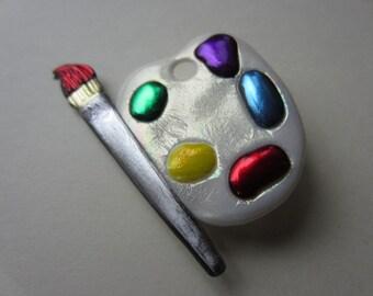 Artist pallet pin Brooch