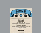 Wedding Reception Menu - Vintage Antique Victorian Edwardian Cottage Chic Rustic Large Banner Wedding Reception Menu