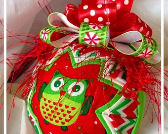 Who's Ready for Christmas Owl Ornament