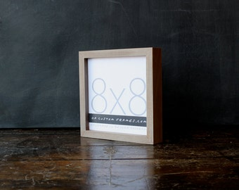 8x8 picture frame with natural sail rope colored finish part of drift collection 8x8 handmade picture frame