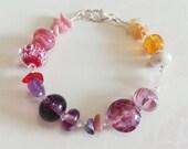 Tutti Frutti Bracelet Lampwork Sterling Silver Bracelet by keiara SRA