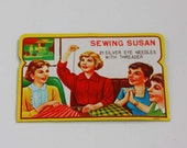 Vintage Sewing Susan Needle Book - Decorative Sewing Needle Package