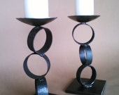 Stacked Ring Candle Holders