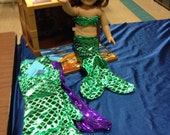 "Custom order for sisa002 - 2 mermaid costumes for 18"" dolls"