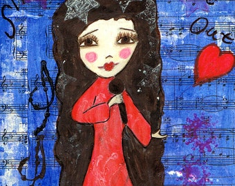 Sing Out Girl - Reproduction of Original Art Work by Jessi Designs