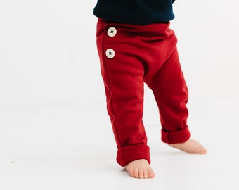 Super warm Merino button pants