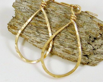 Small Gold Teardrop Earrings Gifts for Her