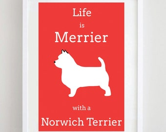 Norwich Terrier Print - Dog Print - Dog Art - Dog Picture - Dog Breed