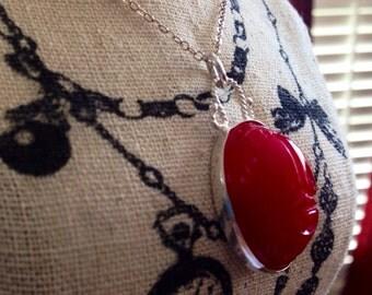 Scarlet Scarab Necklace