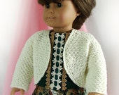 Doll Bolero Sweater 18 inch Doll Ivory Bolero Am Girl Doll Sweater-Jacket Knit Doll Bolero AG Doll Knit Bolero -- RESERVED for Carol L