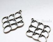 8pcs Antique Brass Tone Base Metal Multiple Hole Earring Findings-51x35mm (19491Y-G-323)
