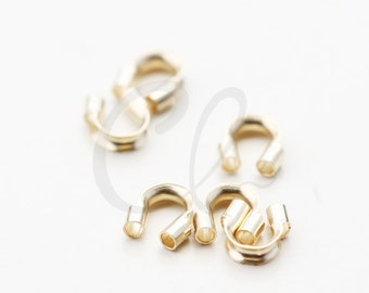 10 Pieces of 14K Gold Filled Wire Guardian - 5mm (1mm Hole) (3593L)