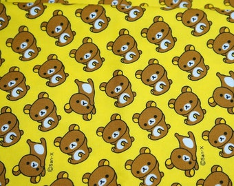 San-X licensed  fabric Rilakkuma fabric by san x  (HAKOA18)