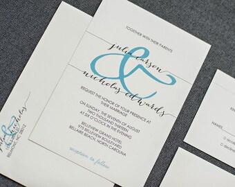 Cheap Wedding Invitations, Budget Wedding Invites, Ivory Wedding Invitations,  Simple Invitations, Wedding